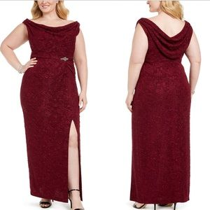 Alex Evenings Plus Size Embellished Column Gown